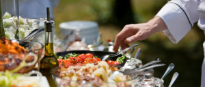 Catering, selective focus, canon 1Ds mark III